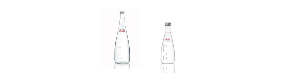 Bouteille d eau en verre bouteille design evian - Evian bouteille verre ...