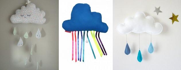 decoration nuage chambre bebe