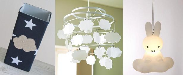 lampe nuage chambre bebe decoration