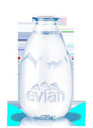 La goutte d 39 evian un design unique le format d 39 un verre evian - Evian bouteille verre ...